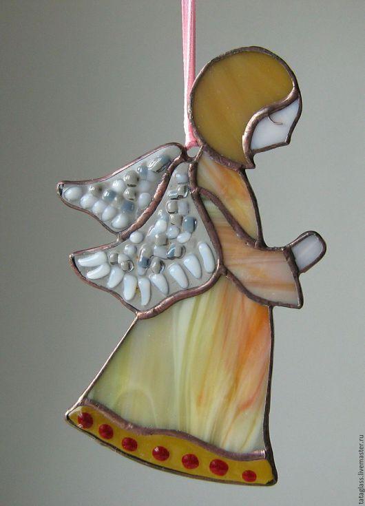 """Элементы интерьера ручной работы. Ярмарка Мастеров - ручная работа. Купить Подвеска """" Ангел"""". Handmade. Ангел, Фьюзинг, припой"""