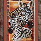 """Картины и панно ручной работы. Ярмарка Мастеров - ручная работа Картина """"Африка: Зебры"""". Handmade."""