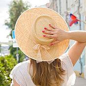 Аксессуары handmade. Livemaster - original item Embossed hat-boater. Handmade.