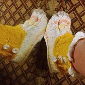 Обувь ручной работы. Ярмарка Мастеров - ручная работа Носки -полусапожки домашние вязаные спицами.Авторская работа. Handmade.