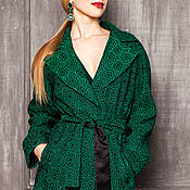 Одежда handmade. Livemaster - original item EMERALD green TRENCH cold summer. Handmade.