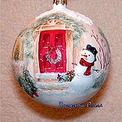 """Подарки к праздникам ручной работы. Ярмарка Мастеров - ручная работа Елочный шар """"На пороге Нового года"""". Handmade."""