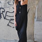 Одежда handmade. Livemaster - original item Summer floor - length cotton dress with lycra - DR0283TR. Handmade.