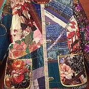 Одежда handmade. Livemaster - original item Jackets: Women`s patchwork jacket Flowers. Handmade.