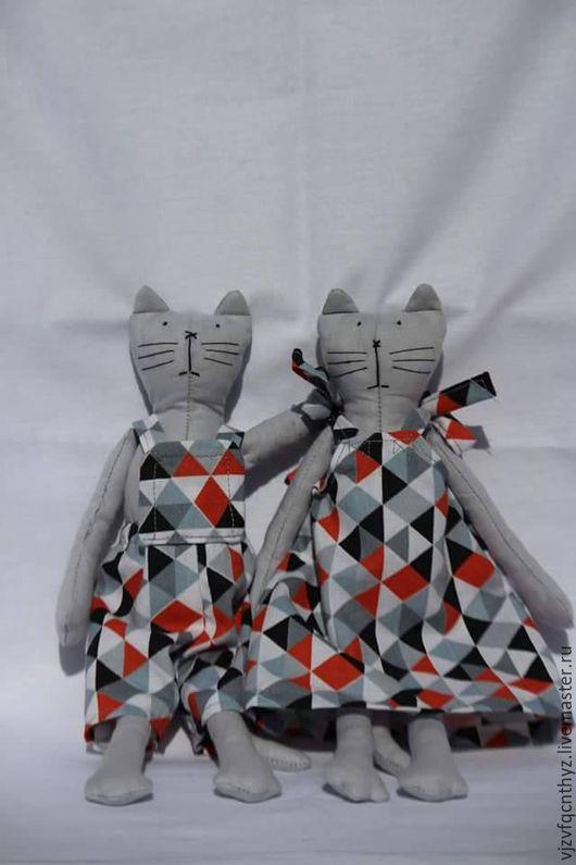 Персональные подарки ручной работы. Ярмарка Мастеров - ручная работа. Купить Коты ТИЛЬДА. Handmade. Комбинированный, игрушка для детей