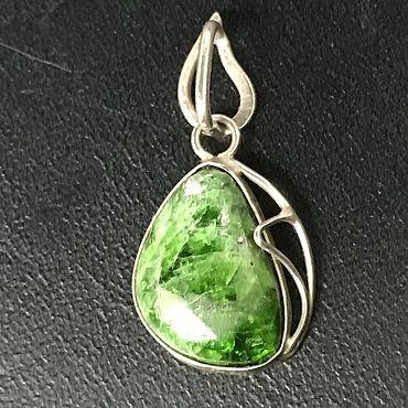 Подарки к праздникам handmade. Livemaster - original item Jewelry: pendant with natural chromdiopside .. Handmade.