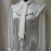 Одежда ручной работы. Ярмарка Мастеров - ручная работа Блузка с бантом. Handmade.
