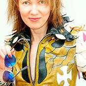 Одежда handmade. Livemaster - original item Women`s exclusive leather jacket, bright leather jacket.. Handmade.