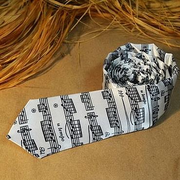 Аксессуары ручной работы. Ярмарка Мастеров - ручная работа Стильный галстук Музыканту. Handmade.