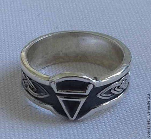 Кольцо с Символом Велеса из серебра с черением 4-6 грамм -1100руб. Под заказ 5дн.;