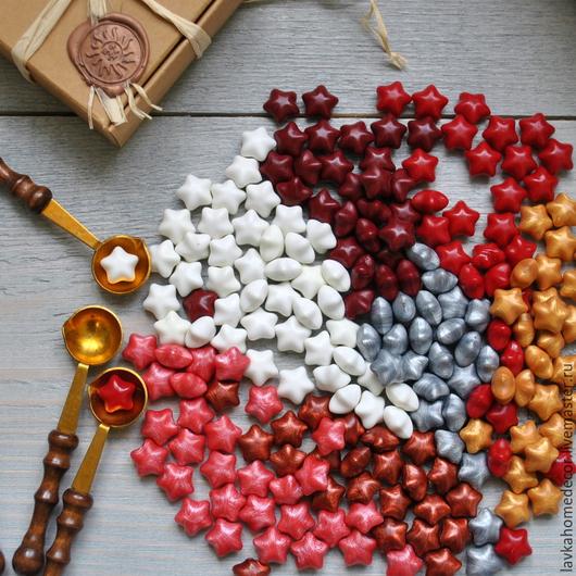 Воск для печатей Звездочка, 14 цветов