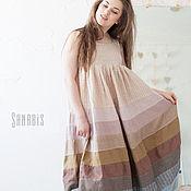 Одежда ручной работы. Ярмарка Мастеров - ручная работа Эко платье-сарафан из натурального льна. Handmade.