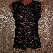 Одежда ручной работы. Ярмарка Мастеров - ручная работа Топ черный. Handmade.
