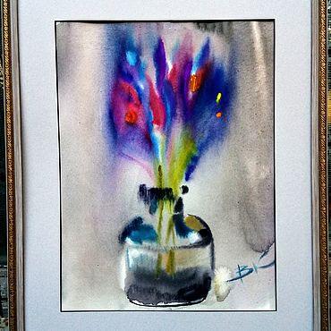 """Картины и панно ручной работы. Ярмарка Мастеров - ручная работа """"Картина Вечерние крокусы"""". Handmade."""