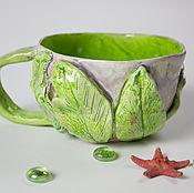 Посуда ручной работы. Ярмарка Мастеров - ручная работа Большая эльфийская чашка. Handmade.