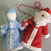 Куклы и игрушки handmade. Livemaster - original item Doll: Santa Claus and snow maiden woven. Handmade.