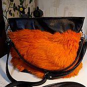 Сумки и аксессуары handmade. Livemaster - original item Bag of leather and fur. Handmade.