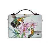 Сумки и аксессуары handmade. Livemaster - original item Women`s bag Hummingbird made of wood with painting. Handmade.