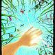 """Животные ручной работы. Ярмарка Мастеров - ручная работа. Купить """"Летнее небо""""  авторский принт. Handmade. Солнце, лето, природа"""
