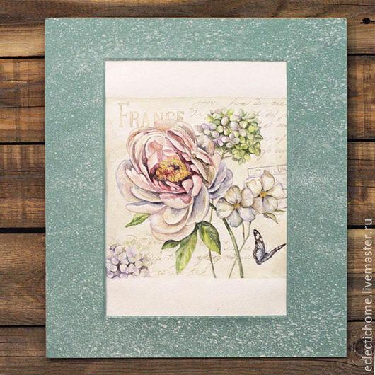 """Картины цветов ручной работы. Ярмарка Мастеров - ручная работа. Купить Акварель """"Прованс"""". Handmade. Мятный, цветы, картина, постер"""