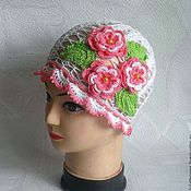 Работы для детей, ручной работы. Ярмарка Мастеров - ручная работа Ажурная летняя  шапочка для девочки. Handmade.