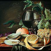 Картины и панно ручной работы. Ярмарка Мастеров - ручная работа Голландский натюрморт с лимоном. Handmade.