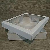 Сувениры и подарки handmade. Livemaster - original item Copy of Box for packaging made of cardboard with a window. Handmade.