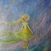 Картины и панно ручной работы. Ярмарка Мастеров - ручная работа картина из шерсти  -вдруг запахло весной. Handmade.