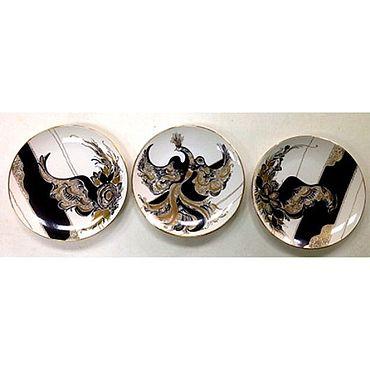Посуда ручной работы. Ярмарка Мастеров - ручная работа Триптих Царь-птица. Handmade.