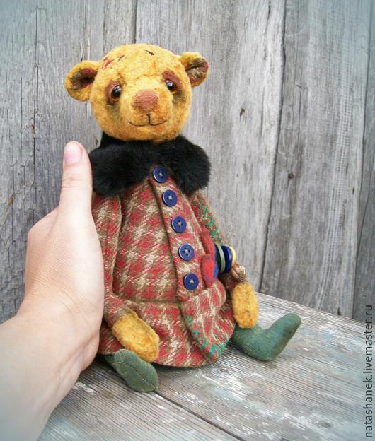 Мишки Тедди ручной работы. Ярмарка Мастеров - ручная работа. Купить Мишка тедди винтаж. Поля.. Handmade. Бежевый