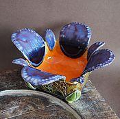 """Для дома и интерьера ручной работы. Ярмарка Мастеров - ручная работа """"Фиалковая"""", вазочка, керамика ручной работы.. Handmade."""
