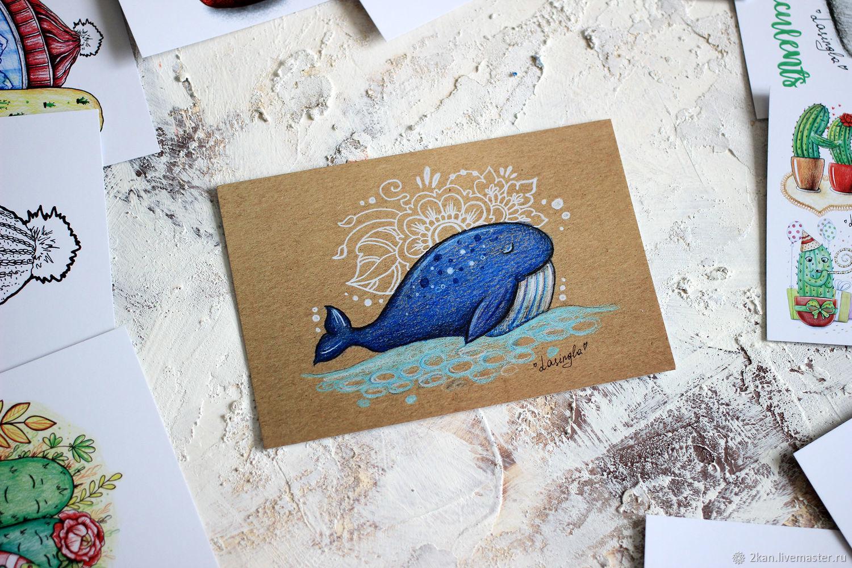 Почтовая открытка ярмарка мастеров, картинка клоуном деревянные