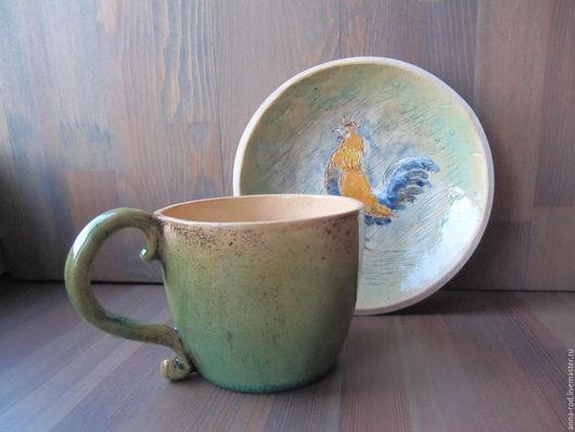 Кружки и чашки ручной работы. Ярмарка Мастеров - ручная работа. Купить Кружка голубая. Handmade. Голубой, глазури