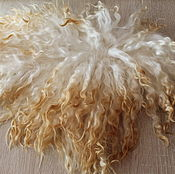 Материалы для творчества handmade. Livemaster - original item The skin of the goat # 14 (hair for dolls, white) Curls Curls for dolls. Handmade.