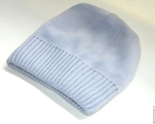 Шапки ручной работы. Ярмарка Мастеров - ручная работа. Купить Вязаная шапочка бини полушерсть серая. Handmade. Яркая шапка