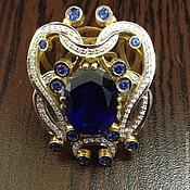 Украшения handmade. Livemaster - original item Magic Roxanne. Golden ring with sapphire and diamonds. Handmade.