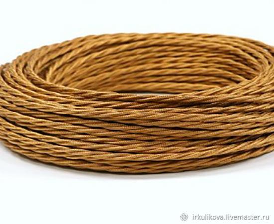 Провод витой для наружной проводки 2х0,75 медный шелк, Дизайн, Москва,  Фото №1