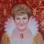 Картины и панно ручной работы. Ярмарка Мастеров - ручная работа В образе королевы. Handmade.