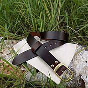 Ремни ручной работы. Ярмарка Мастеров - ручная работа Ремень кожаный мужской. Handmade.