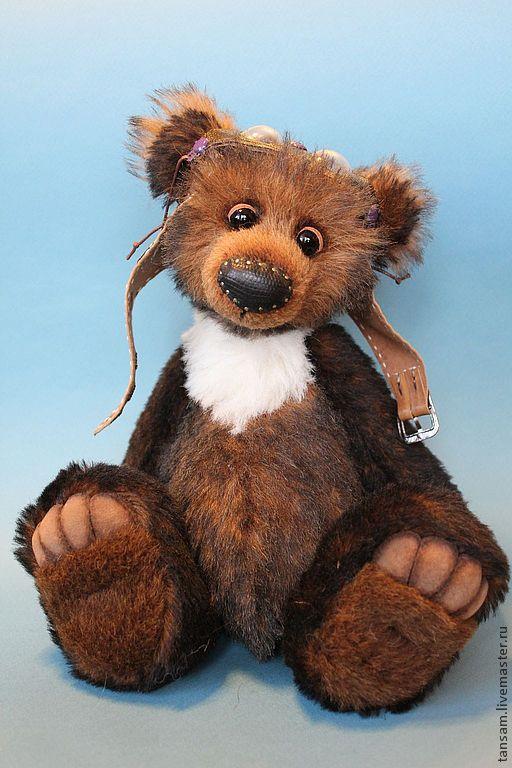 Мишки Тедди ручной работы. Ярмарка Мастеров - ручная работа. Купить Гималайский. Handmade. Коричневый, подарок, кожа натуральная