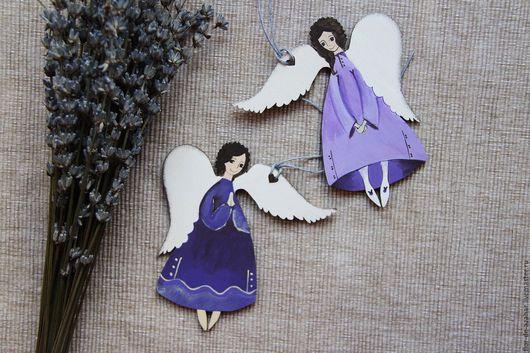 Новый год 2017 ручной работы. Ярмарка Мастеров - ручная работа. Купить Ангелы лавандовые - белокрылые. Handmade. Ангел, ангелок