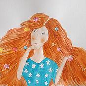 """Картины и панно ручной работы. Ярмарка Мастеров - ручная работа Рисунок картина акварелью для детской """"Карамельная весна"""". Handmade."""
