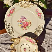Винтаж handmade. Livemaster - original item Schirnding,Bavaria. (1956-1974)) Tea trio. Germany.. Handmade.