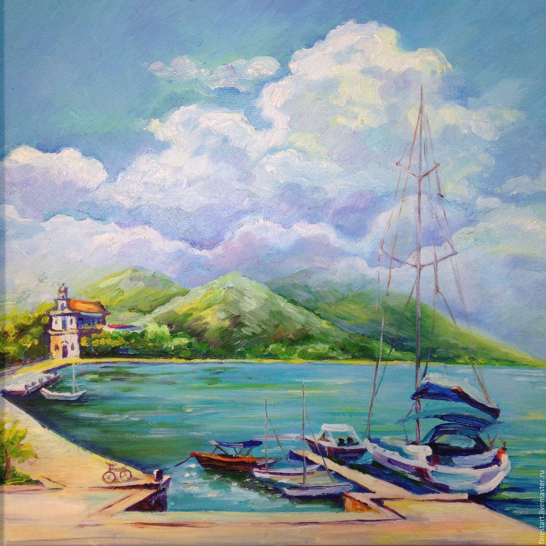 Oil Painting Seascape Spain Oil On Canvas купить на