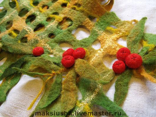 """Шарфы и шарфики ручной работы. Ярмарка Мастеров - ручная работа. Купить шарфик """"Осенняя пора"""". Handmade. Шарфик, желтый"""