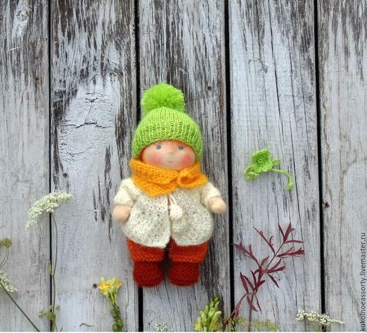 Вальдорфская игрушка ручной работы. Ярмарка Мастеров - ручная работа. Купить Пупс Осенний 17 см. Handmade. Рыжий