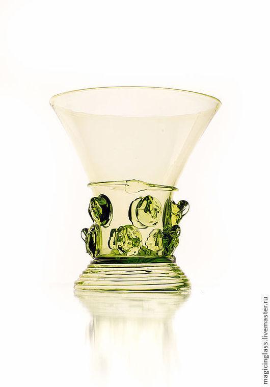 Рюмки ручной работы. Ярмарка Мастеров - ручная работа. Купить Коллекционное историческое стекло. Рюмка № 45.. Handmade. Зеленый