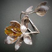 Украшения handmade. Livemaster - original item The band is rigid: Flowers bloomed 购物琥珀. Handmade.