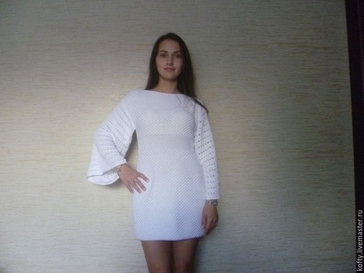 Платья ручной работы. Ярмарка Мастеров - ручная работа. Купить Белое платье из хлопка. Handmade. Белый, платье летнее