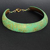 """Necklace handmade. Livemaster - original item Колье """"Зеленоглазка"""". Handmade."""